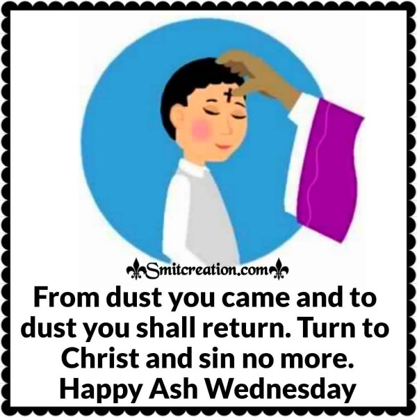 Ash Wednesday Message Card