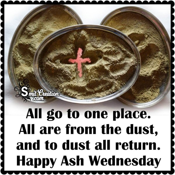 Happy Ash Wednesday Card For Whatsapp