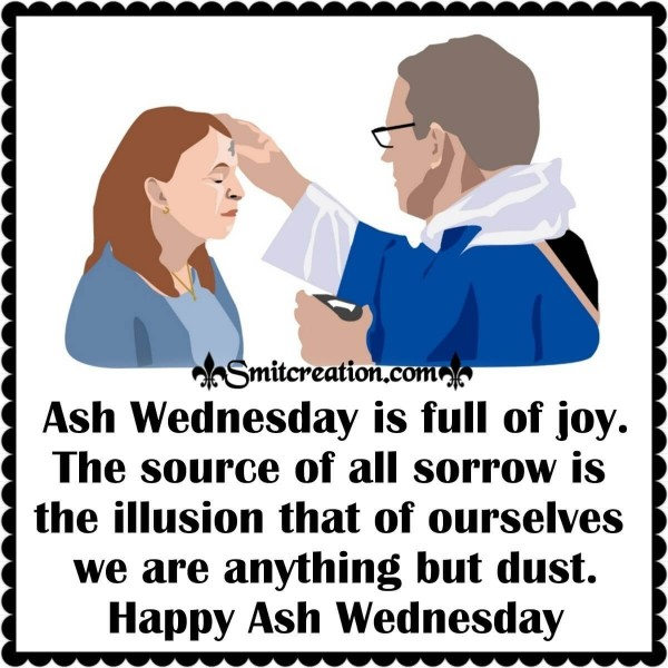 Happy Ash Wednesday Quote For Whatsapp