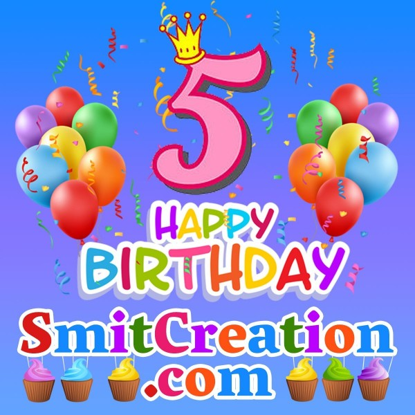 5th Happy Birthday Smitcreation.com