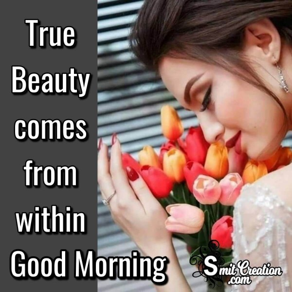 Good Morning Quote On Beauty Of Woman
