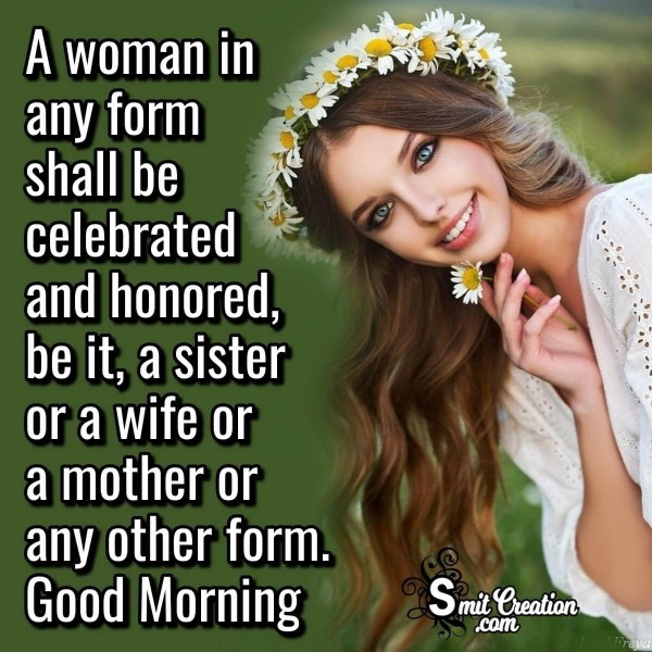 Good Morning Quote For All Woman