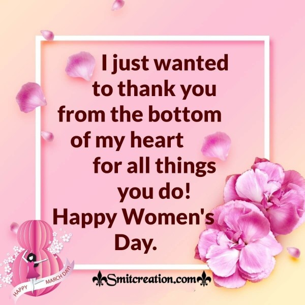 Happy Women's Day Thank You Card
