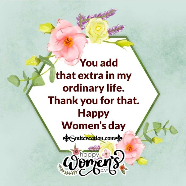 Women's Day Thank You Card