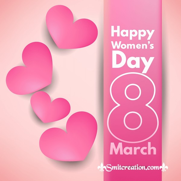 Happy Women's Day 8 March Heart Pic