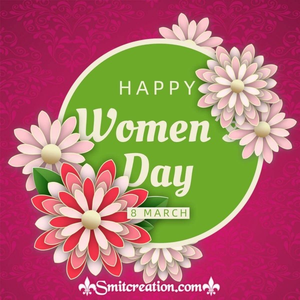 Happy Women's Day Floral Card