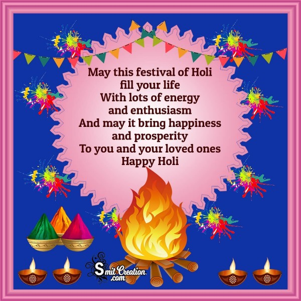 Happy Holi Wishes Card