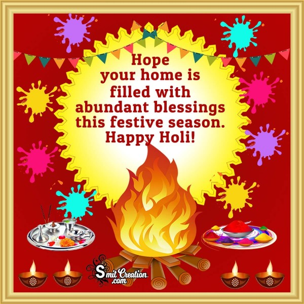 Happy Holi Blessings Card