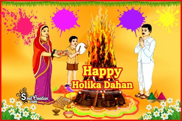 Happy Holika Dahan Card