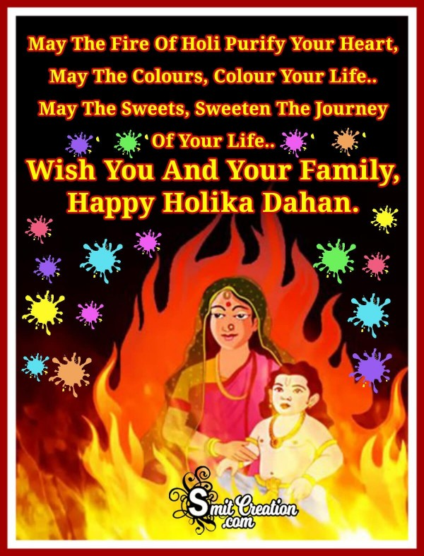 Wish You And Your Family, Happy Holika Dahan
