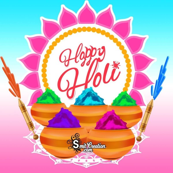 Happy Holi Colourful Card