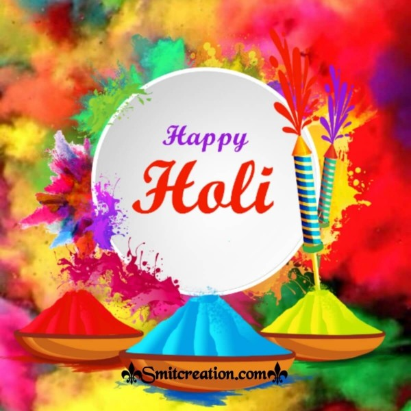 Happy Holi Colourful Greeting