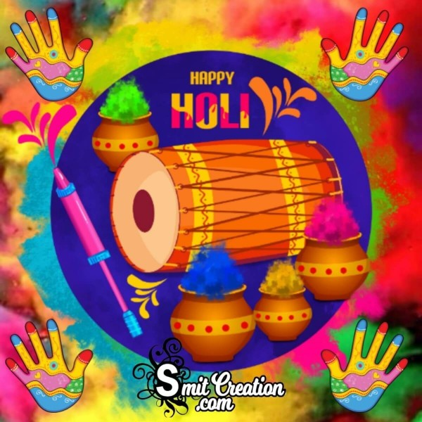 Happy Holi Colourful Greeting Card
