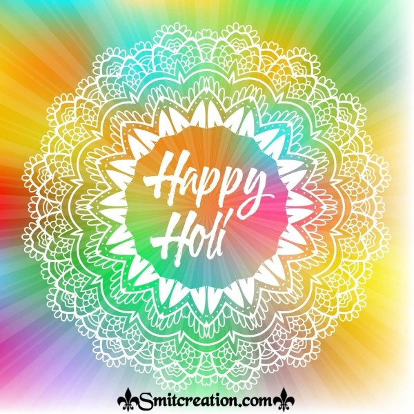 Happy Holi Colourful Image