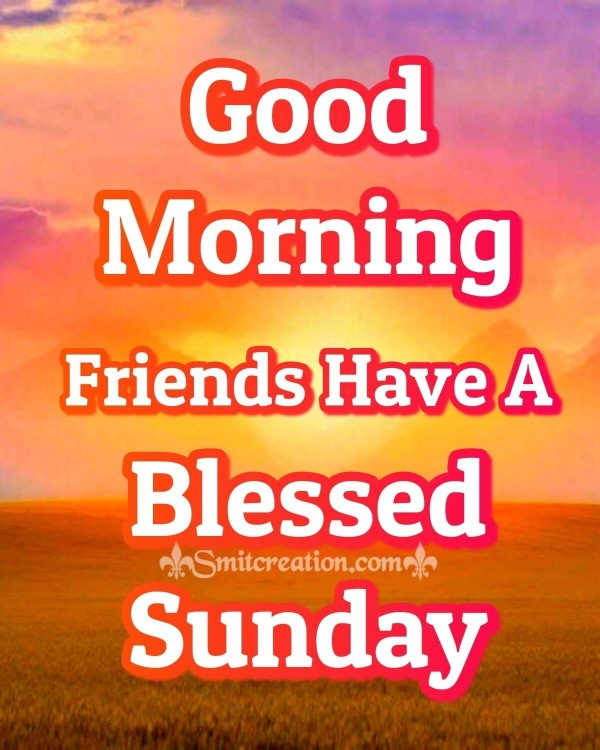 Good Morning Friends Have A Blessed Sunday