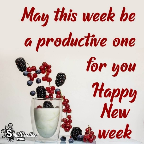 Happy Productive New Week