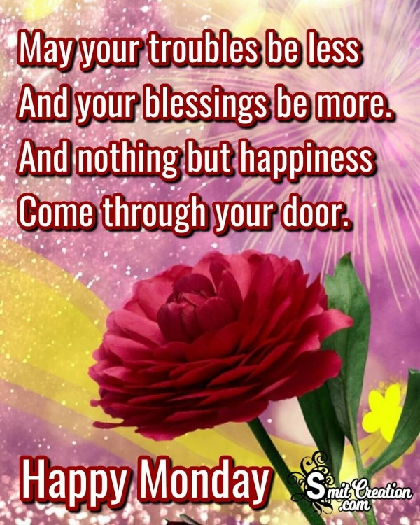 May Your Blessings Be More On Monday