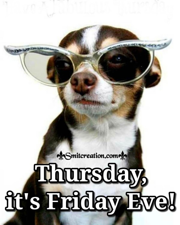 Thursday, It's Friday Eve!