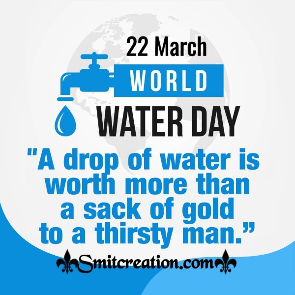 22 March World Water Day Slogan