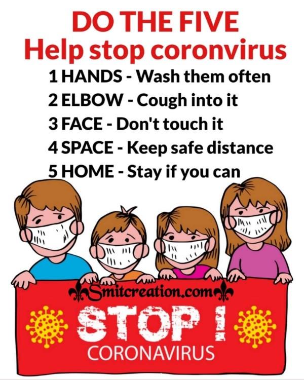 Stop Coronavirus Prevention Quote