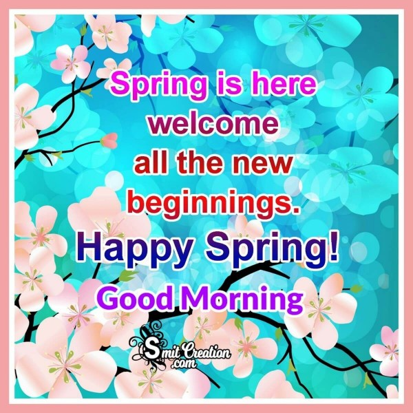 Good Morning Happy Spring Image