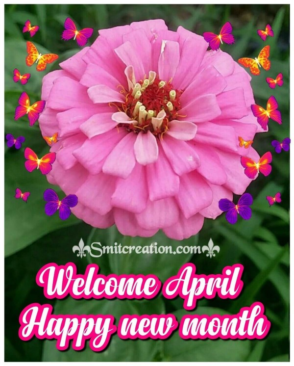 Welcome April Happy New Month