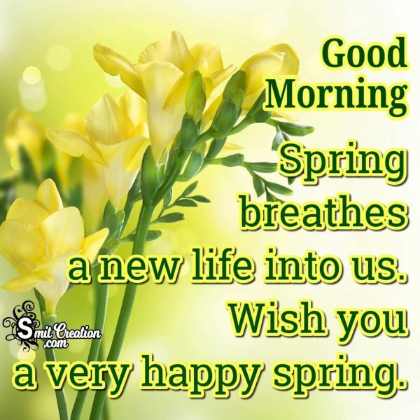 Good Morning A Very Happy Spring