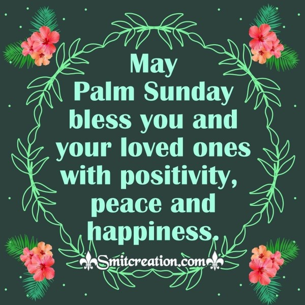 Happy Palm Sunday Blessing