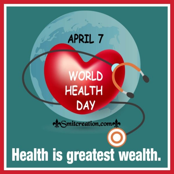 Happy World Health Day Slogan Card