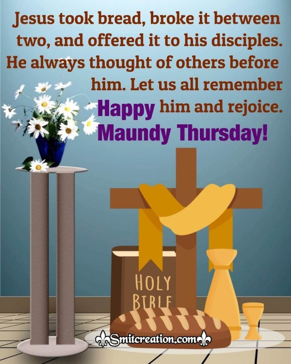 Happy Maundy Thursday Holy Quote