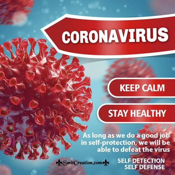 Coronavirus Keep Calm Stay Healthy