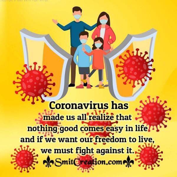 Coronavirus Life Quote For Whatsapp