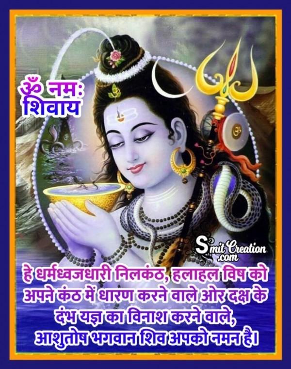 Dharmdhwajdhari Nilkanth Aashutosh Bhagwan Shiv