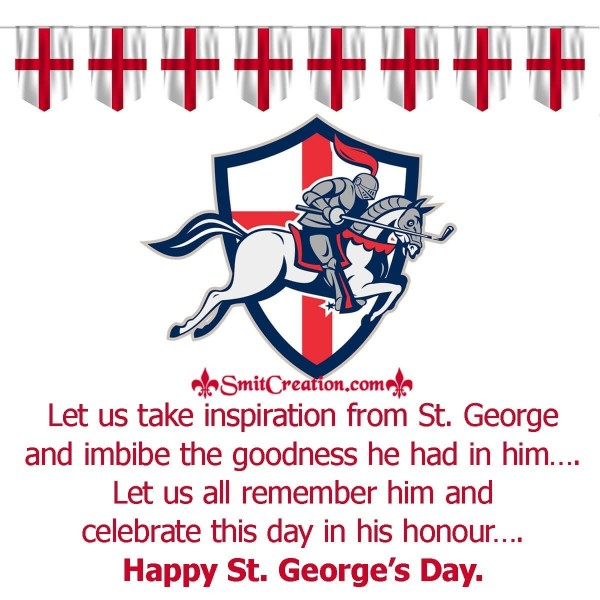 Happy St. George's Day Greeting Card