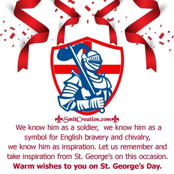 Warm Wishes To You On St. George's Day