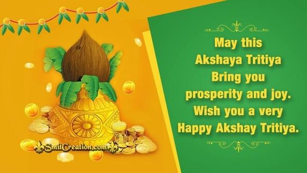 Wish You A Very Happy Akshay Tritiya.