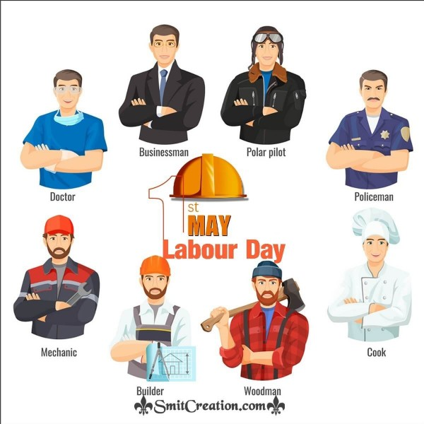 1st May Labour Day Card
