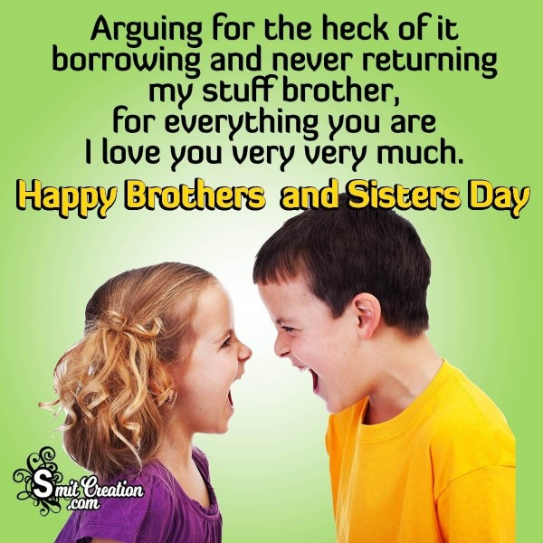 Happy Brother's and Sister's Day Wishes To Brother