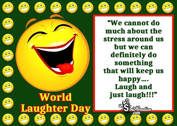 World Laughter Day Message Card