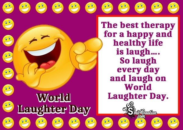 World Laughter Day Quote Card