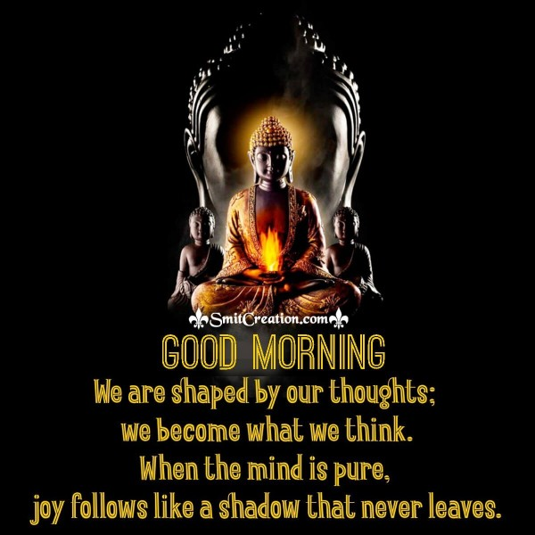 Good Morning Buddha Quote On Thoughts