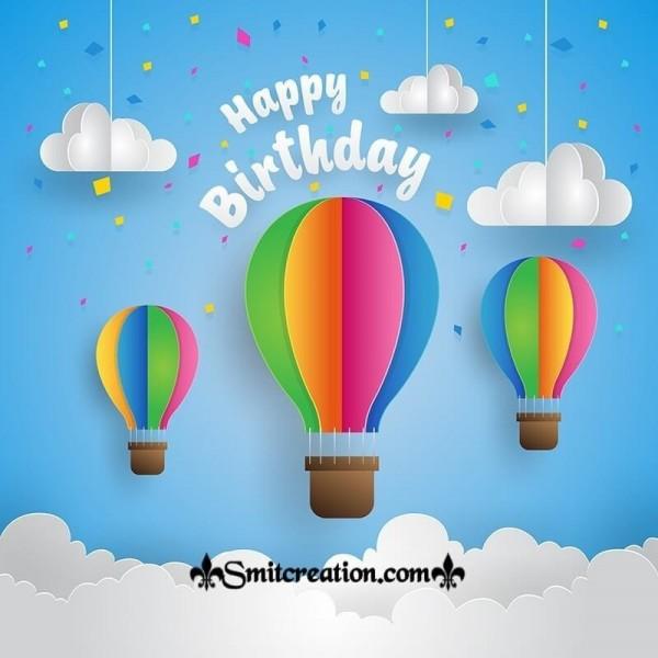 Happy Birthday Parashute Card