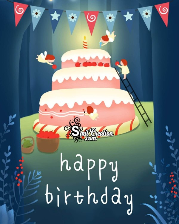 Happy Birthday Big Cake Card