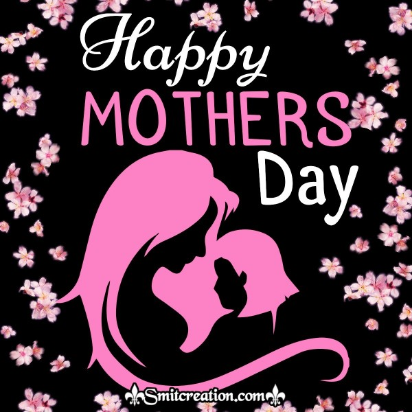 Happy Mother's Day Silhouette Pink Card