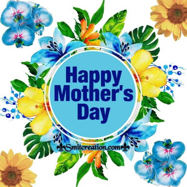 Happy Mother's Day Blue Floral Card