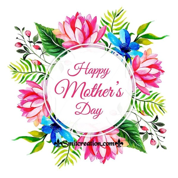 Happy Mother's Day Pink Floral Card
