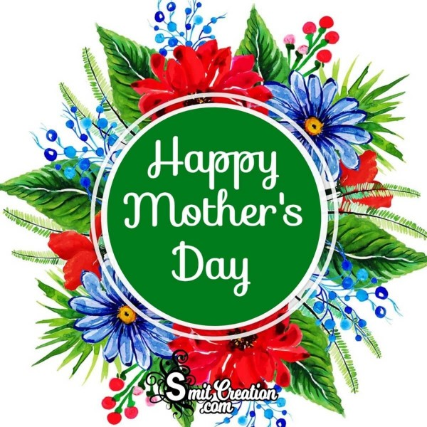 Happy Mother's Day Green Floral Card
