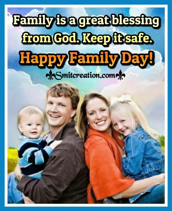 Happy Family Day Blessing Card