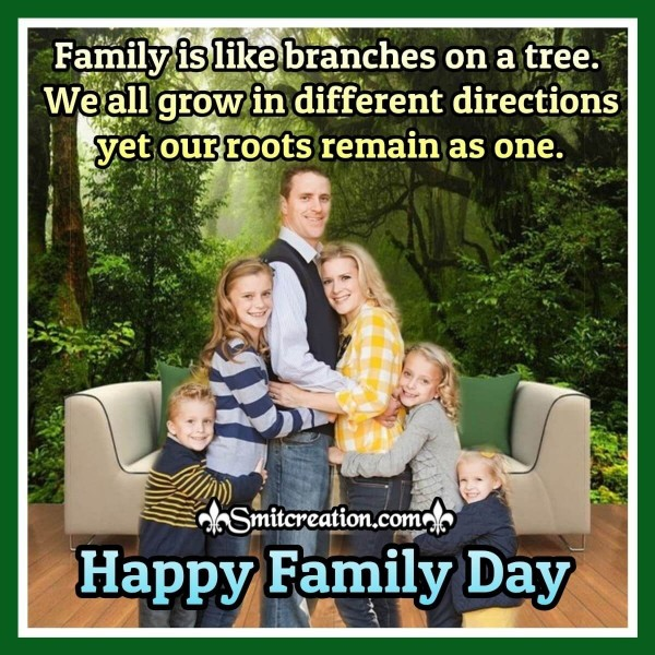 Happy Family Day Quote Card