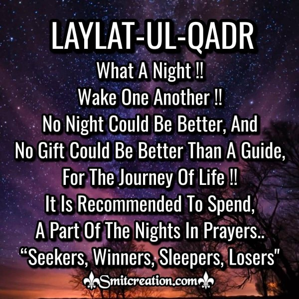 Laylatul Qadr What A Night Quote